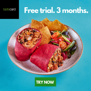 Free 3 Month Trial With Tastecard